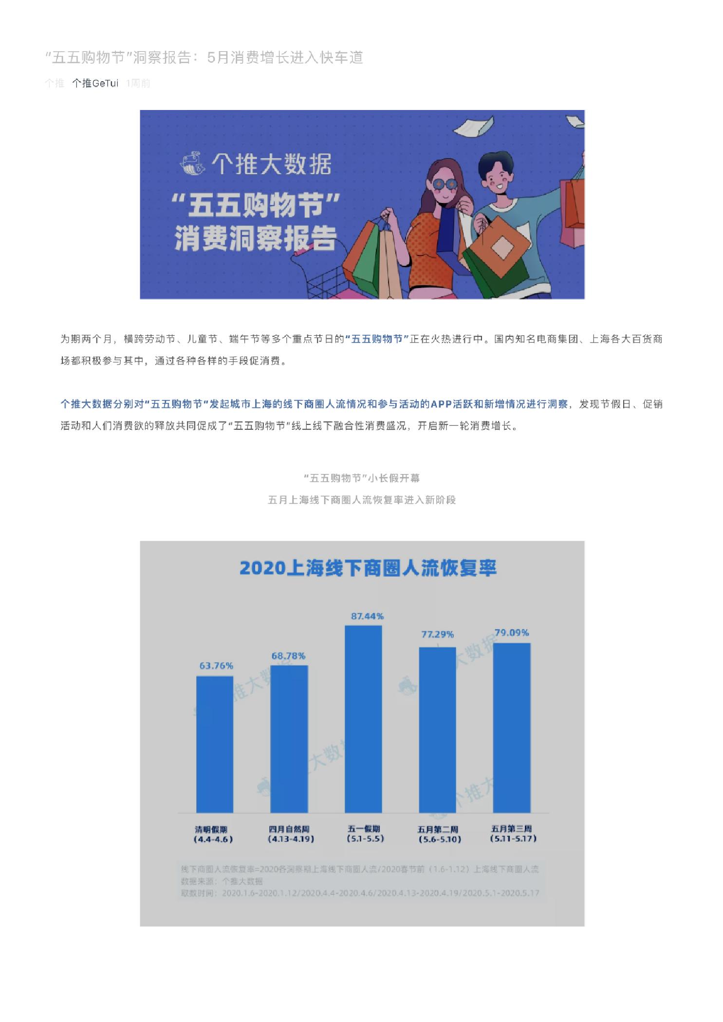 """""""五五购物节""""洞察报告:5月消费增长进入快车道"""