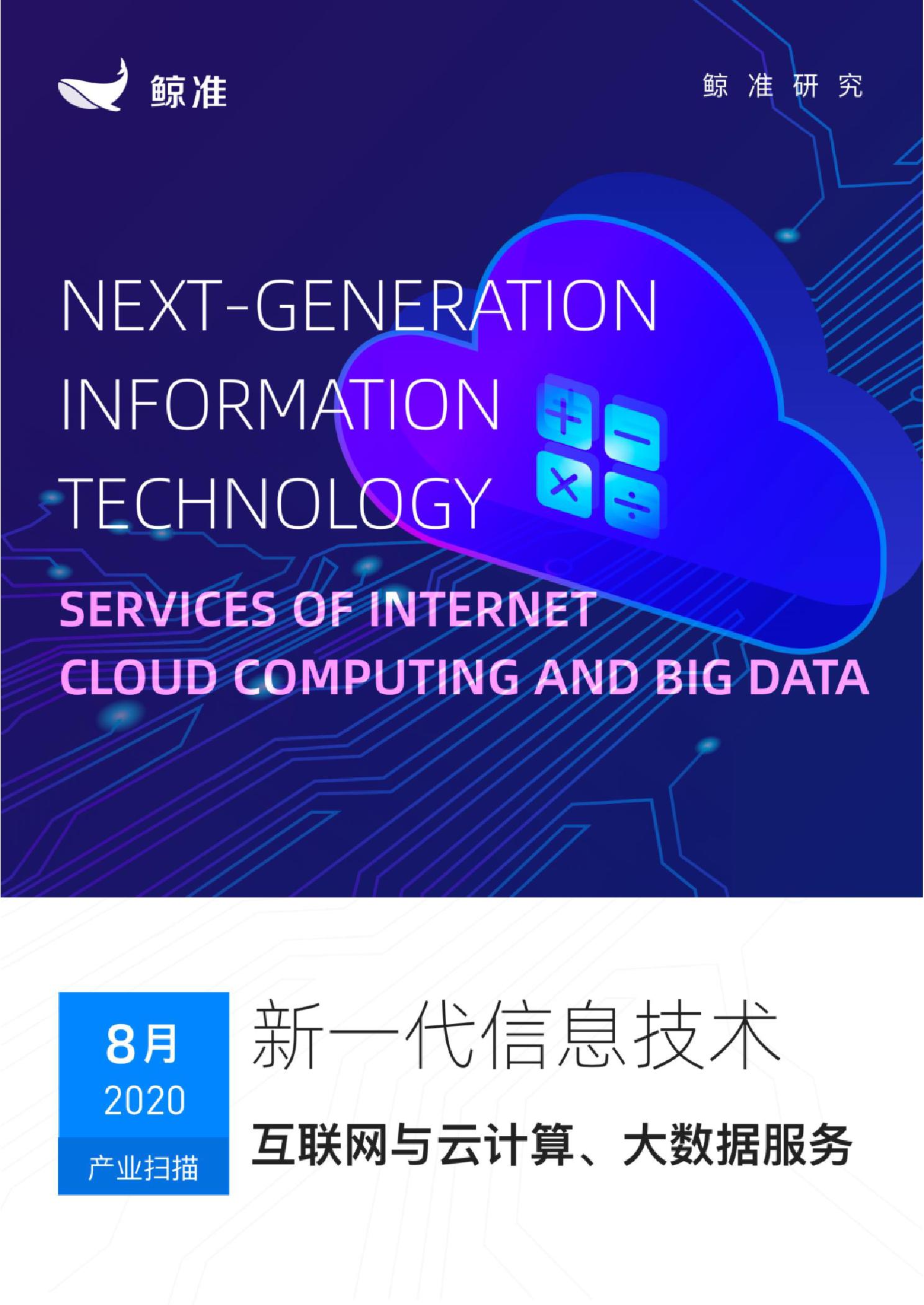 产业月度报告:互联网与云计算、大数据服务