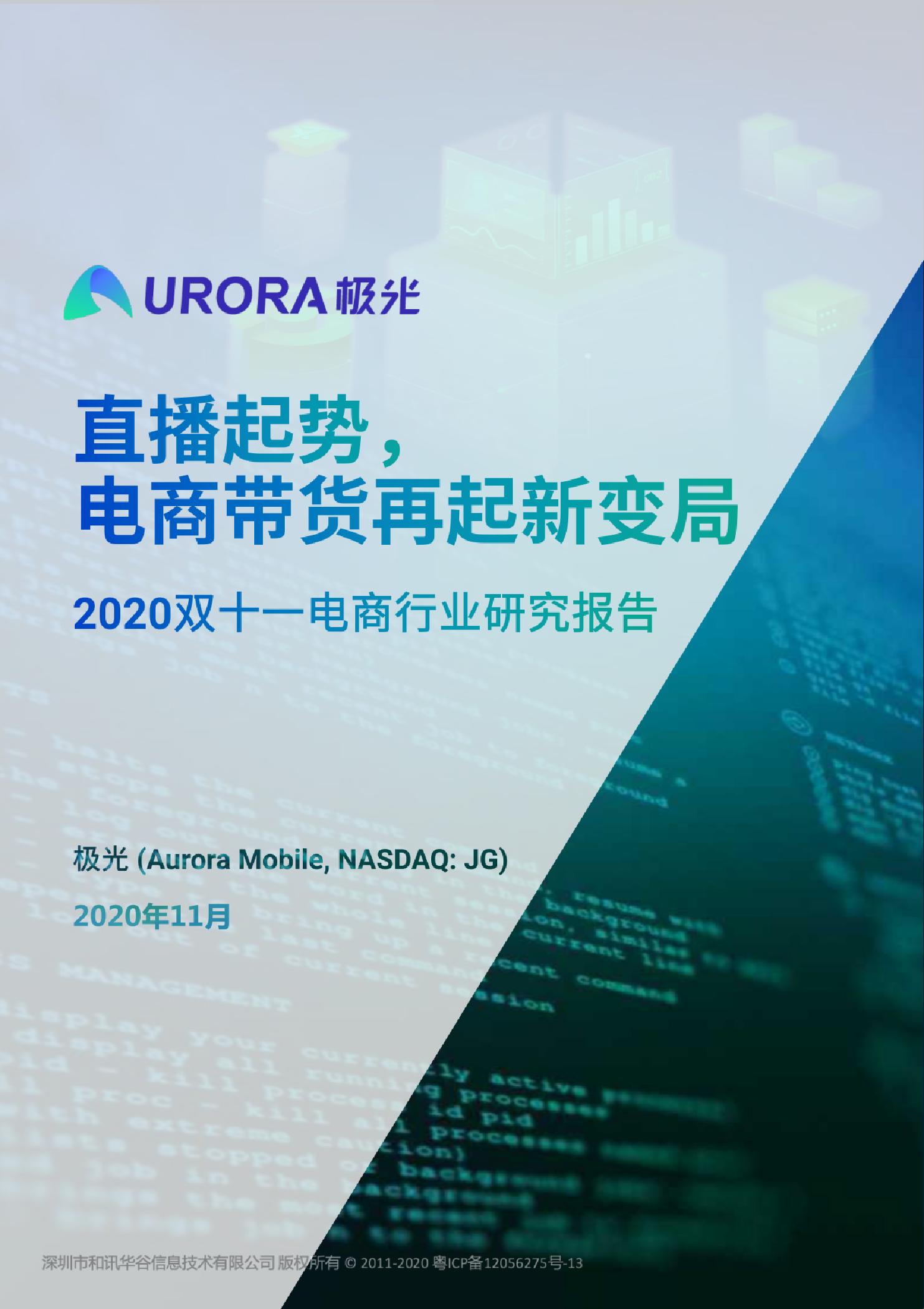 2020双十一电商行业研究报告