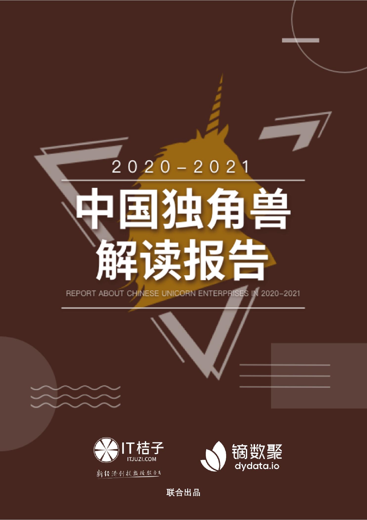 2020-2021中国独角兽解读报告
