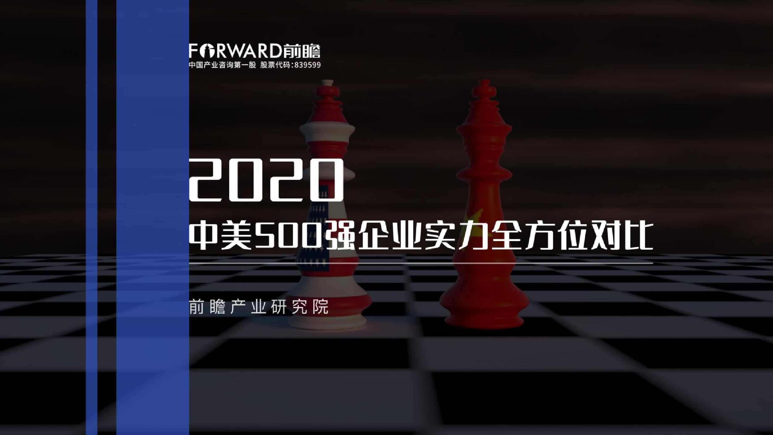 2020年中美500强企业实力对比