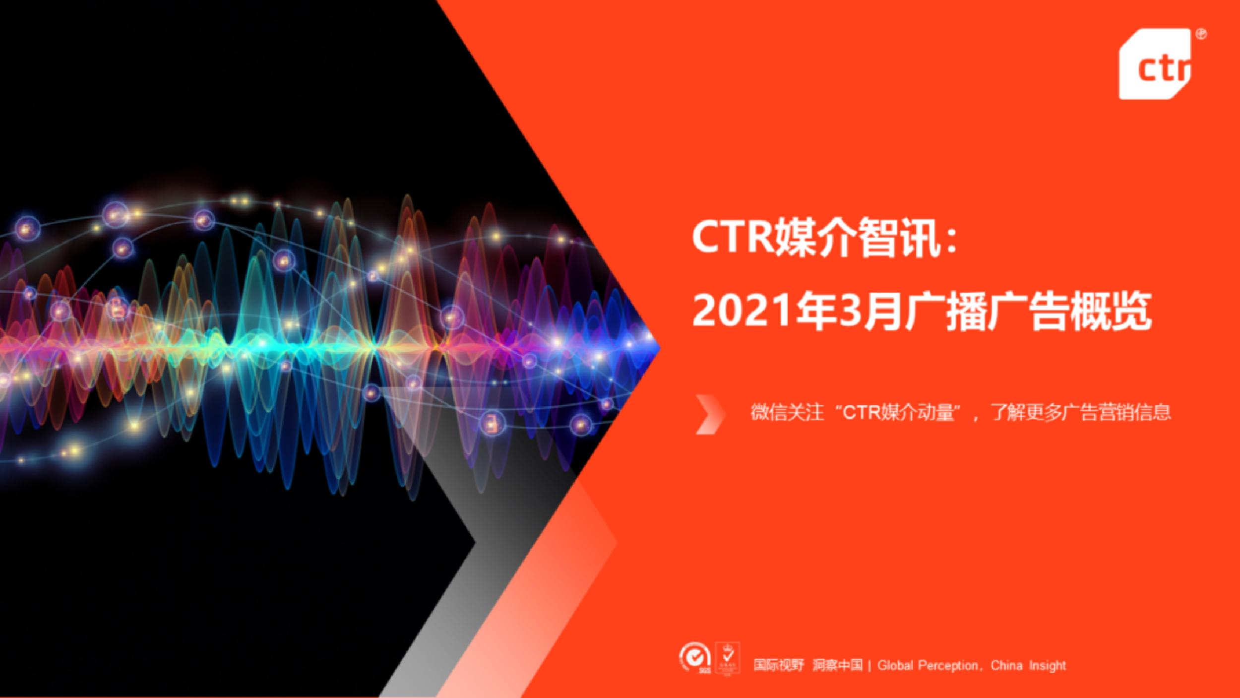 CTR媒介智讯:2021年3月广播广告概览